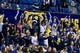 Dec 17, 2016; Berkeley, CA, USA;  California Golden Bears fans cheer during the game against the Cal Poly Mustangs in the second period at Haas Pavilion. Cal won 81-55. Mandatory Credit: John Hefti-USA TODAY Sports