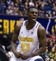 Dec 17, 2016; Berkeley, CA, USA; California Golden Bears guard Jabari Bird (23) reacts after dunking the ball against the Cal Poly Mustangs in the second period at Haas Pavilion. Cal won 81-55. Mandatory Credit: John Hefti-USA TODAY Sports