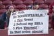 January 1, 2017; Santa Clara, CA, USA; San Francisco 49ers fans hold up a sign for owner Jed York before the game against the Seattle Seahawks at Levi's Stadium. Mandatory Credit: Kyle Terada-USA TODAY Sports