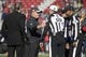 January 1, 2017; Santa Clara, CA, USA; San Francisco 49ers head coach Chip Kelly shakes hands with the officials before the game against the Seattle Seahawks at Levi's Stadium. Mandatory Credit: Kyle Terada-USA TODAY Sports