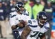 Jan 1, 2017; Santa Clara, CA, USA; Seattle Seahawks quarterback Russell Wilson (3) drops back to pass during the first quarter against the San Francisco 49ers at Levis Stadium. Mandatory Credit: Neville E. Guard-USA TODAY Sports