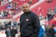 January 1, 2017; Santa Clara, CA, USA; San Francisco 49ers offensive coordinator Curtis Modkins before the game against the Seattle Seahawks at Levi's Stadium. The Seahawks defeated the 49ers 25-23. Mandatory Credit: Kyle Terada-USA TODAY Sports