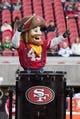 January 1, 2017; Santa Clara, CA, USA; San Francisco 49ers mascot Sourdough Sam before the game against the Seattle Seahawks at Levi's Stadium. The Seahawks defeated the 49ers 25-23. Mandatory Credit: Kyle Terada-USA TODAY Sports