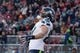 January 1, 2017; Santa Clara, CA, USA; Seattle Seahawks tight end Luke Willson (82) celebrates after scoring a touchdown against the San Francisco 49ers during the second quarter at Levi's Stadium. Mandatory Credit: Kyle Terada-USA TODAY Sports