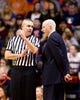 Jan 25, 2017; Champaign, IL, USA; Illinois Fighting Illini head coach John Groce (right) has a discussion with an official during the second half against the Iowa Hawkeyes at State Farm Center. Illinois beat Iowa 76 to 64.  Mandatory Credit: Mike Granse-USA TODAY Sports