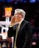 Jan 25, 2017; Champaign, IL, USA; Iowa Hawkeyes head coach Fran McCaffery instructs his team during the second half against the Illinois Fighting Illini at State Farm Center. Illinois beat Iowa 76 to 64.  Mandatory Credit: Mike Granse-USA TODAY Sports