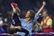 Feb 5, 2017; Houston, TX, USA; Gisele Bundchen and her daughter Vivian Brady celebrate after the game between the Atlanta Falcons and the New England Patriots during Super Bowl LI at NRG Stadium. The Patriots won 34-28. Mandatory Credit: Bob Donnan-USA TODAY Sports