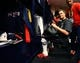 Feb 5, 2017; Houston, TX, USA; New England Patriots quarterback Tom Brady reacts in the locker room as he looks for his jersey after defeating the Atlanta Falcons during Super Bowl LI at NRG Stadium. Mandatory Credit: Mark J. Rebilas-USA TODAY Sports