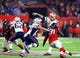 Feb 5, 2017; Houston, TX, USA; New England Patriots quarterback Tom Brady (12) against the Atlanta Falcons during Super Bowl LI at NRG Stadium. Mandatory Credit: Mark J. Rebilas-USA TODAY Sports