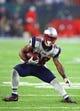 Feb 5, 2017; Houston, TX, USA; New England Patriots running back James White (28) against the Atlanta Falcons during Super Bowl LI at NRG Stadium. Mandatory Credit: Mark J. Rebilas-USA TODAY Sports