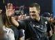 Feb 5, 2017; Houston, TX, USA; New England Patriots quarterback Tom Brady waves after defeating the Atlanta Falcons in Super Bowl LI at NRG Stadium. Mandatory Credit: Matthew Emmons-USA TODAY Sports