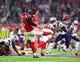 Feb 5, 2017; Houston, TX, USA; Atlanta Falcons punter Matt Bosher (5) against the New England Patriots during Super Bowl LI at NRG Stadium. Mandatory Credit: Mark J. Rebilas-USA TODAY Sports