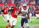 Feb 5, 2017; Houston, TX, USA; Atlanta Falcons wide receiver Justin Hardy (16) against New England Patriots defensive back Jonathan Jones (31) during Super Bowl LI at NRG Stadium. Mandatory Credit: Mark J. Rebilas-USA TODAY Sports