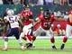 Feb 5, 2017; Houston, TX, USA; Atlanta Falcons offensive guard Chris Chester (65) blocks for quarterback Matt Ryan (2) against the New England Patriots during Super Bowl LI at NRG Stadium. Mandatory Credit: Mark J. Rebilas-USA TODAY Sports